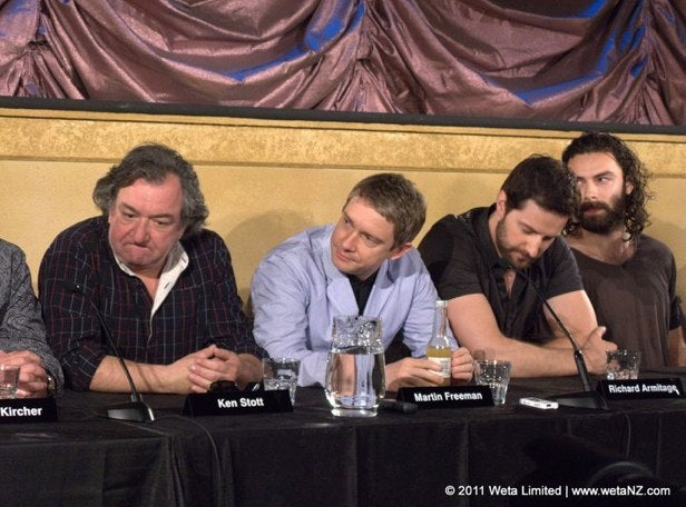 First video of the dwarf and hobbit cast of Peter Jackson's The Hobbit, together at last