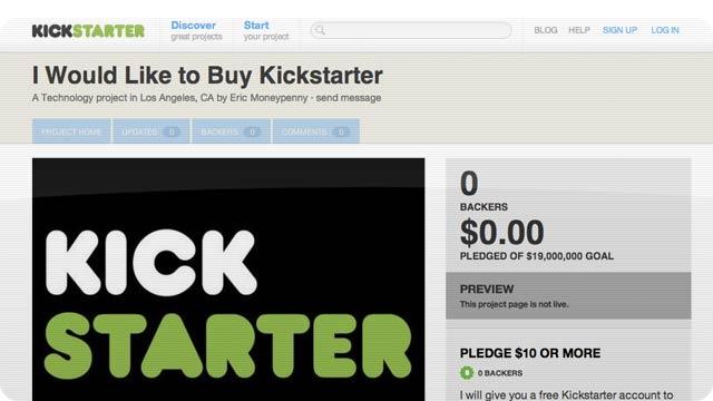 Here's a Kickstarter to Buy Kickstarter