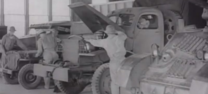 What WWII Soldiers Went Through To Keep Trucks Running In Winter