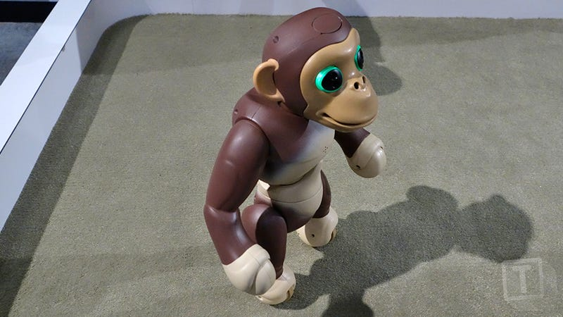 The Zoomer Robot Chimp Stands and Balances on Two Feet Better Than a Toddler Can