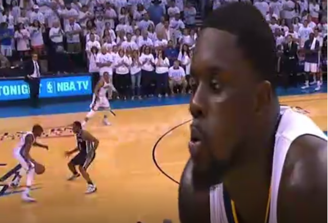 This Is Lance Stephenson Blowing On Kevin Durant And Forcing A Turnover