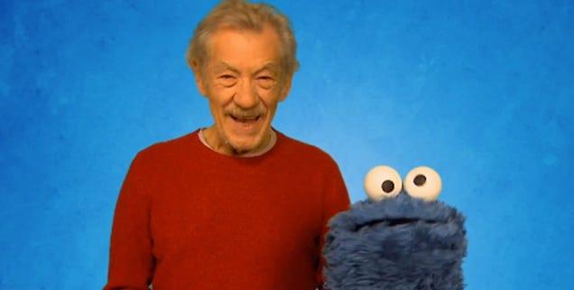 Watch Sir Ian McKellen School Cookie Monster On Self-Control