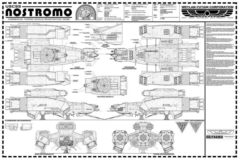 Beautifully-detailed build of the Nostromo ship from Alien