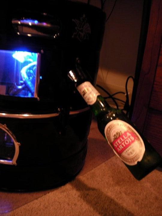 Naturally, This Beer Keg Casemod Has a Bottle Opener