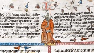 600 year old manuscript shows image of Yoda...