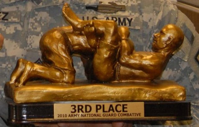 """Here's A Trophy That Calls To Mind Everything Except Military """"Combatives"""""""
