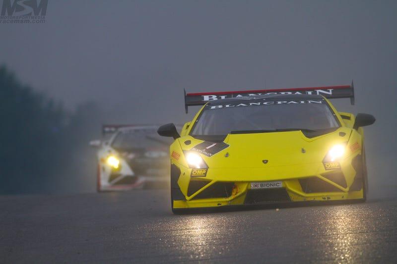 Sportscar Galore & Bulls Running in the Rain North of the Border