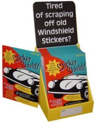 Sticker Shield Eliminates Adhesive Hassle