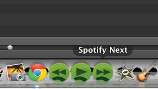 DockPlay Controls Spotify and iTunes in Your Dock
