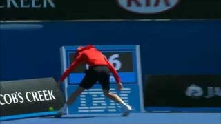 Australian Open Ball Boy Takes 121-MPH Serve Straight To The Dong