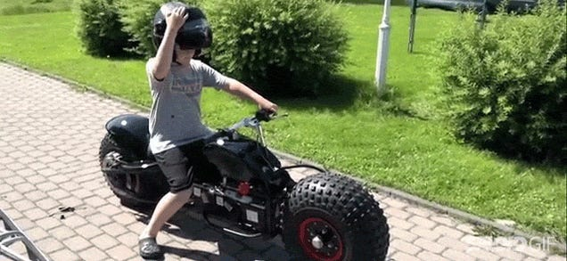 Awesome dad built an even more awesome Batpod motorcycle for his kids