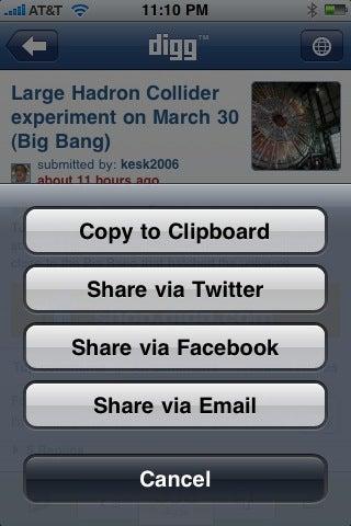 Digg iPhone App Gallery