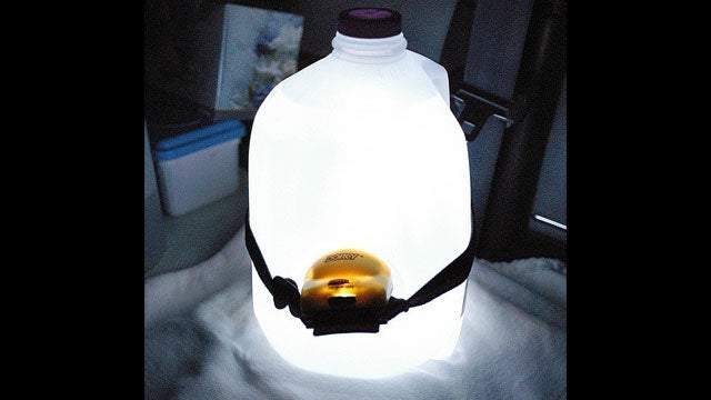 Make an Ambient Lamp Out of a Milk Jug