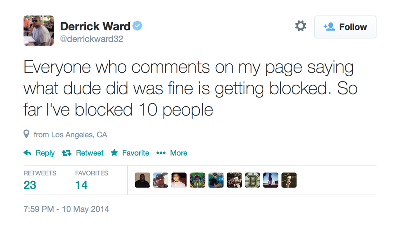 Former NFL Running Back Derrick Ward Goes Off on Twitter About Gay Kiss