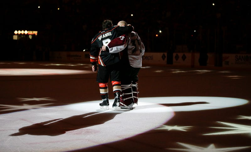 Teemu Selanne And Jean-Sebastien Giguere Say Goodbye With A Victory Lap