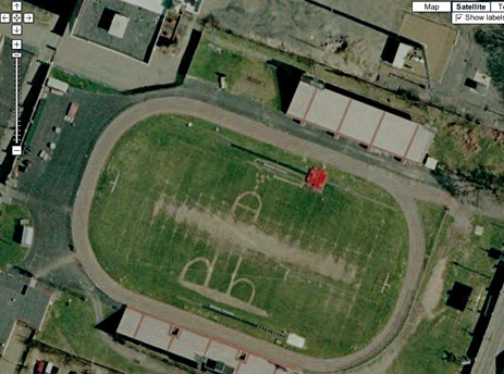 Google Maps Catches Sophisticated High School Football Field Prank