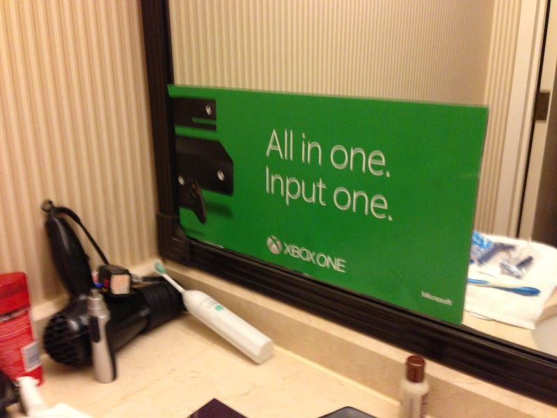 At Least Microsoft Is Winning The Console War In My Hotel Bathroom