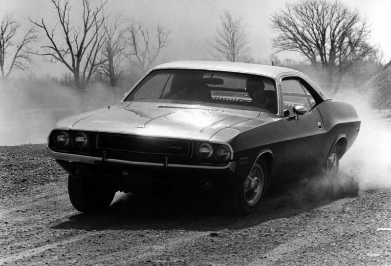 Muscle Cars? B&W 1970 Dodge Challenger Photodump