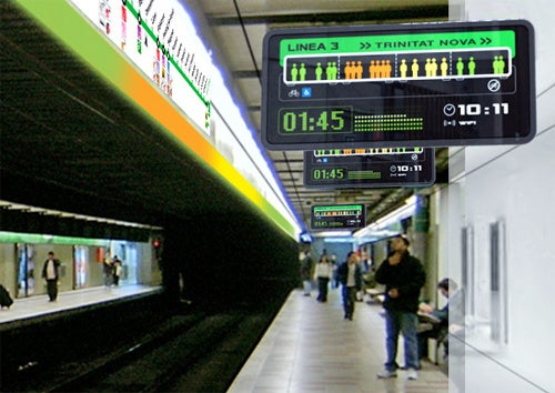 The Trains Of The Future Will Display Intelligent Information About Passenger Density