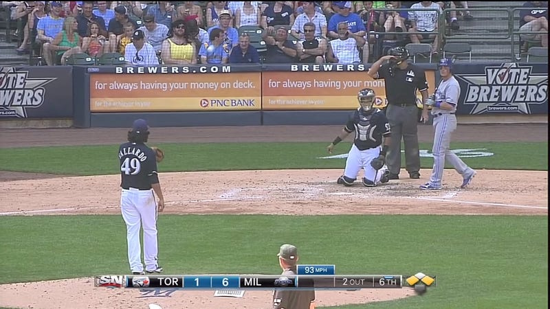 There Was An Inferior Substitute To Front-Row Amy At Yesterday's Brewers Game