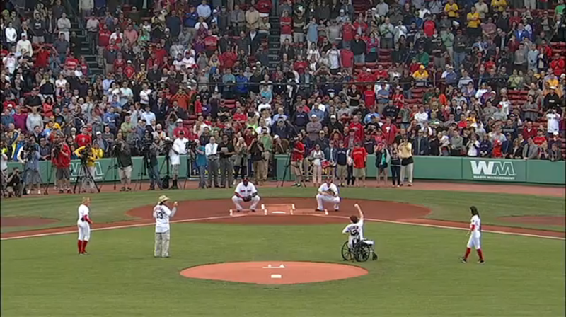 Watch Boston Marathon Bombing Heroes Throw Out Tonight's First Pitch