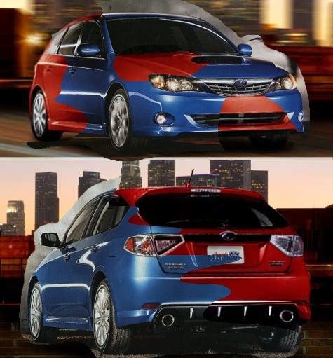 The 2008 Subaru Impreza: Real? Fake? Photoshopped? Yes.