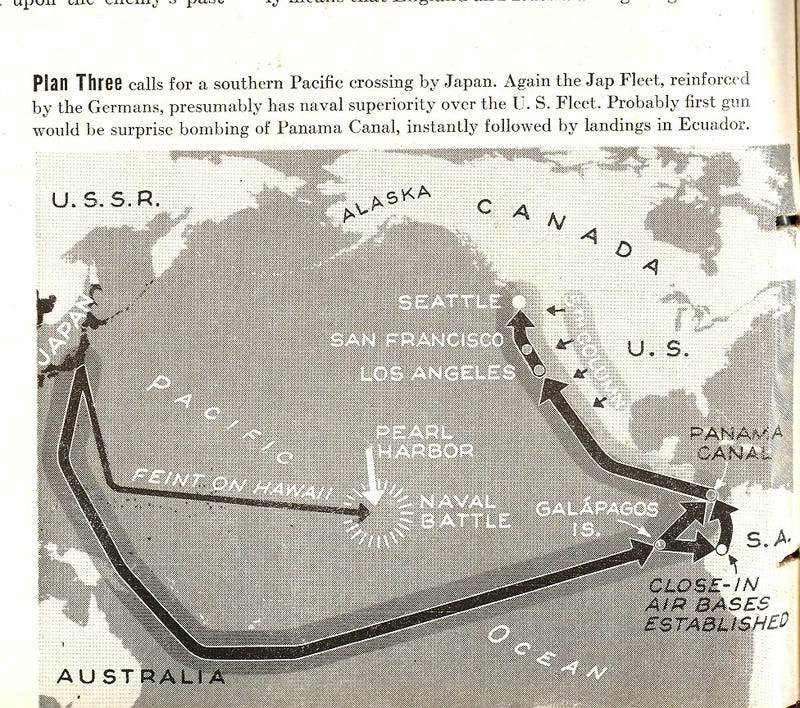 Maps from 1942 of the never-was Nazi invasion of North America