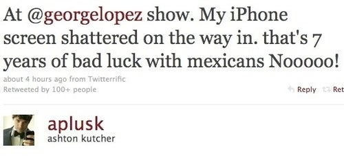 Ashton Kutcher's Trouble With Mexicans