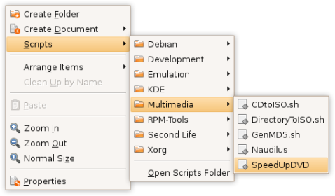 Supercharge your right-click menu with Nautilus Scripts