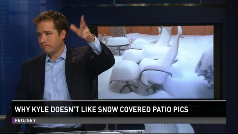 News Anchor Delivers the Ultimate Takedown of Snow-Covered Patio Photos