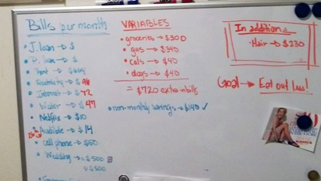 Manage Joint Finances Using a Whiteboard