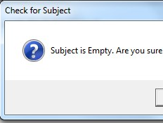 Use an Outlook Macro to Stop Forgetting the Subject Line