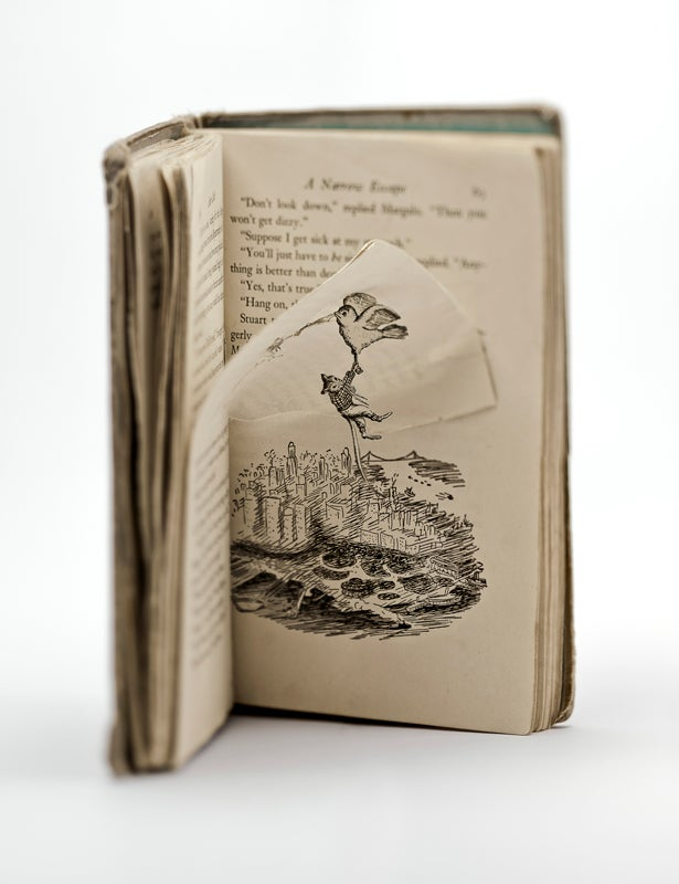 Beautiful 3D book art brings The Phantom Tollbooth and Stuart Little to life