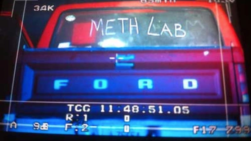 Truck With 'Meth Lab' Written On It Actually Was A Meth Lab