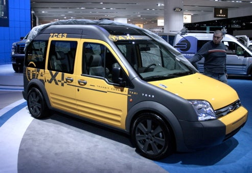 Ford Transit Connect Taxi Live, Yellow And Clean