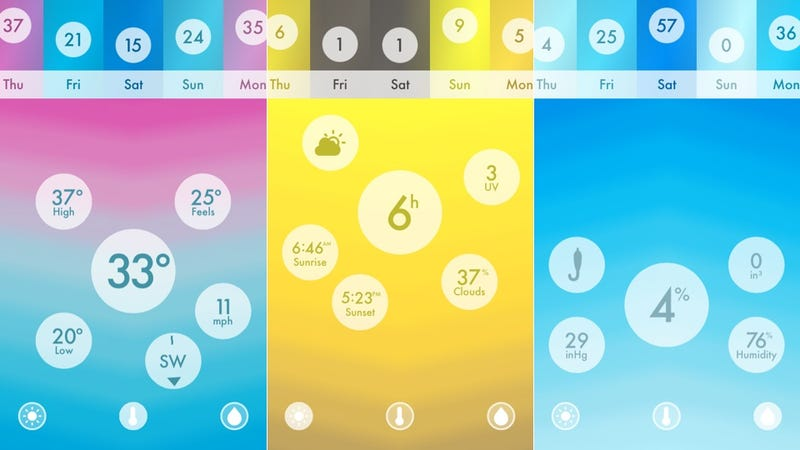 Haze: Turn Your Weather Forecast Into Psychedelic Art