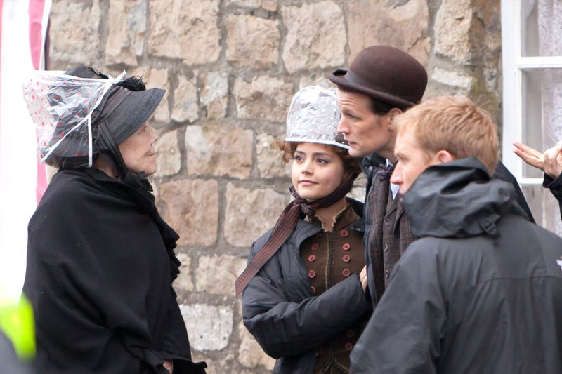 Matt Smith, Diana Rigg, Jenna-Louise Coleman and Brendan Patricks film Doctor Who