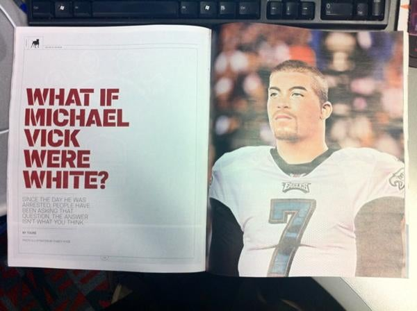 ESPN The Magazine Replaces White Michael Vick With Black Michael Vick