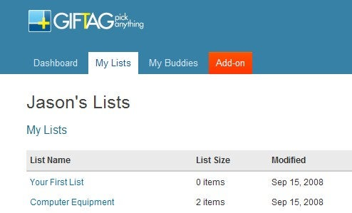 Giftag Simplifies Wishlists