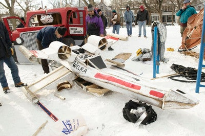X-WIng Sled is Porkins' Transport of Choice in Tahoe