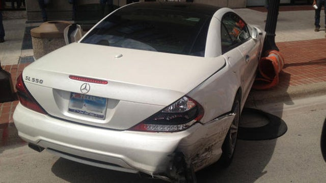 Naked Man Crashes Mercedes In Texas