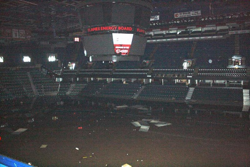 The Flames Vow The Flooded Saddledome Will Be Ready For Hockey