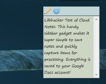 Cloud Notes Saves Notes to Google Docs Right from the Windows Sidebar