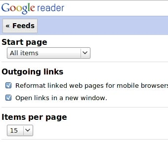 Google Reader Adds Helpful Mobile Options