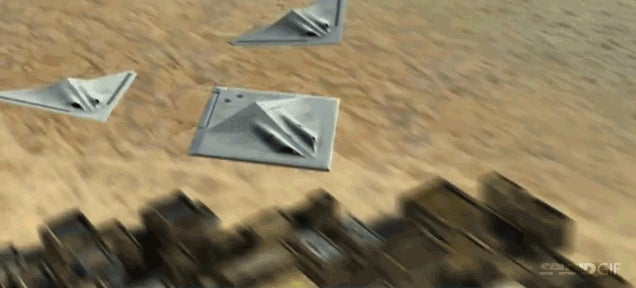 Stealth bomber concept splits in three, reassembles like Voltron