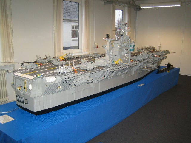 Lego Aircraft Carrier Has Small Gravitational Pull