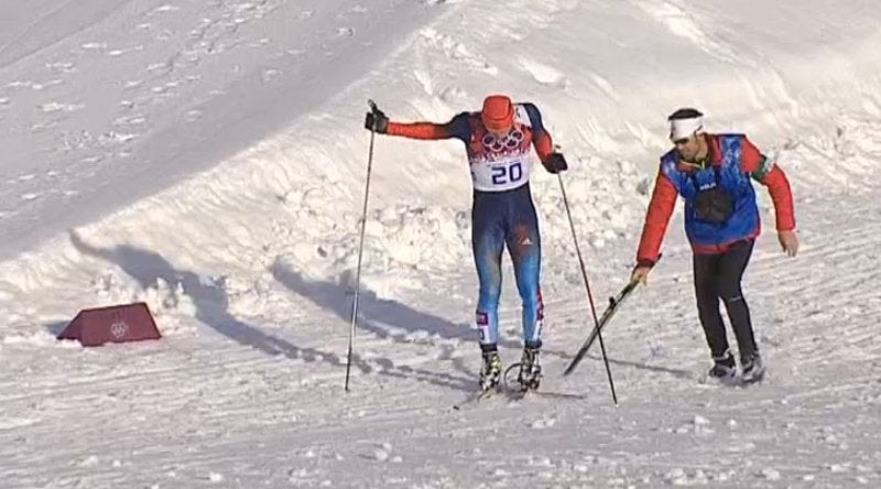 Canadian Coach Comes To Rescue Of Russian With Broken Ski