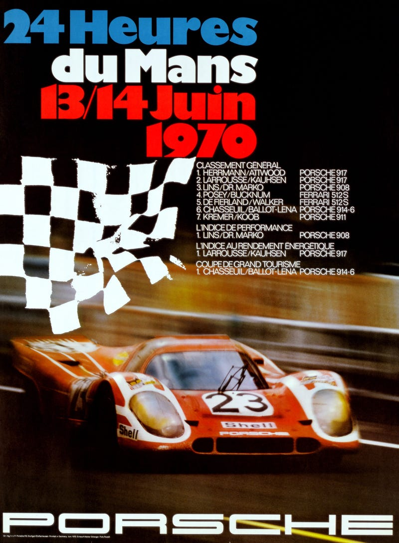 Classic Porsche Le Mans Posters In Hi Res, You're Welcome