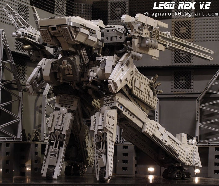 Enormous LEGO Metal Gear Rex Is Looking For Tiny Plastic Men To Crush