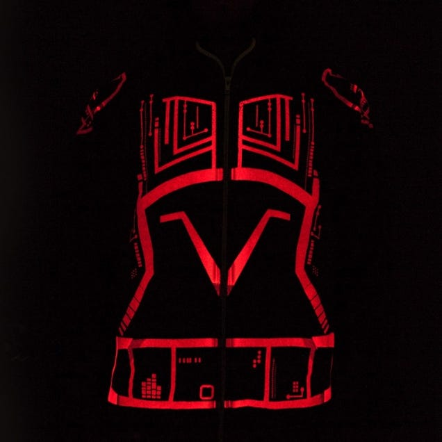 Tron's Sark Hoodie Is Red and Evil and Should Be Mine